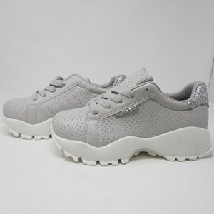 Shoes - Grey Sneakers with sparkles